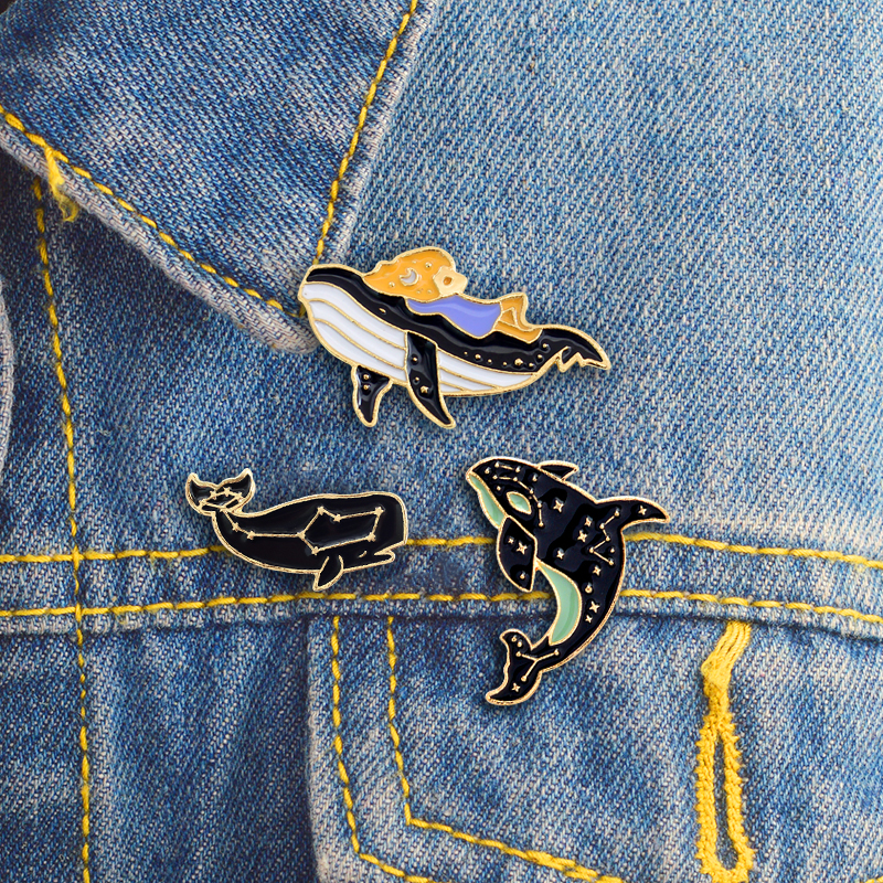 Apparel Sewing & Fabric 1 Pcs Fairy Tale Princess Dress Metal Brooch Button Pins Denim Jacket Pin Jewelry Decoration Badge For Clothes Lapel Pins Be Friendly In Use Badges
