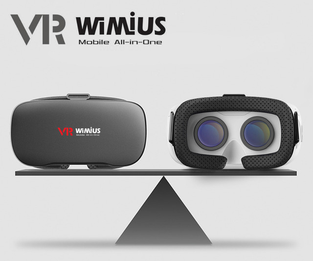 """Wimius All In One VR Headset 3D Glasses Immersive Virtual Reality Android VR BOX Wifi Bluetooth 360D 1080P Full HD 5.5"""" Display"""