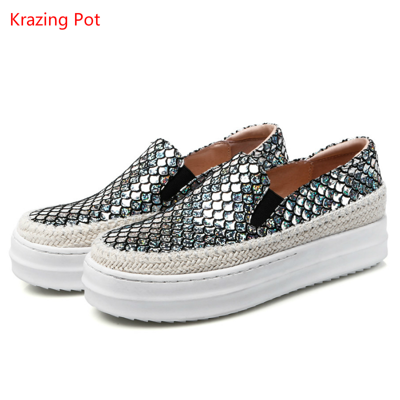 2017 Fashion Large Size Sheepskin Flat with Women Shoes Sexy Causal Shoes Increasing Platform Elegant Loafers Lazy Sneakers L13 fashion tassels ornament leopard pattern flat shoes loafers shoes black leopard pair size 38