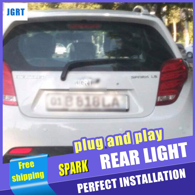 Car Styling for Chevrolet Spark Taillights 2010-2014 New Spark LED Tail Light Rear Lamp DRL+Brake+Park+Signal lights.