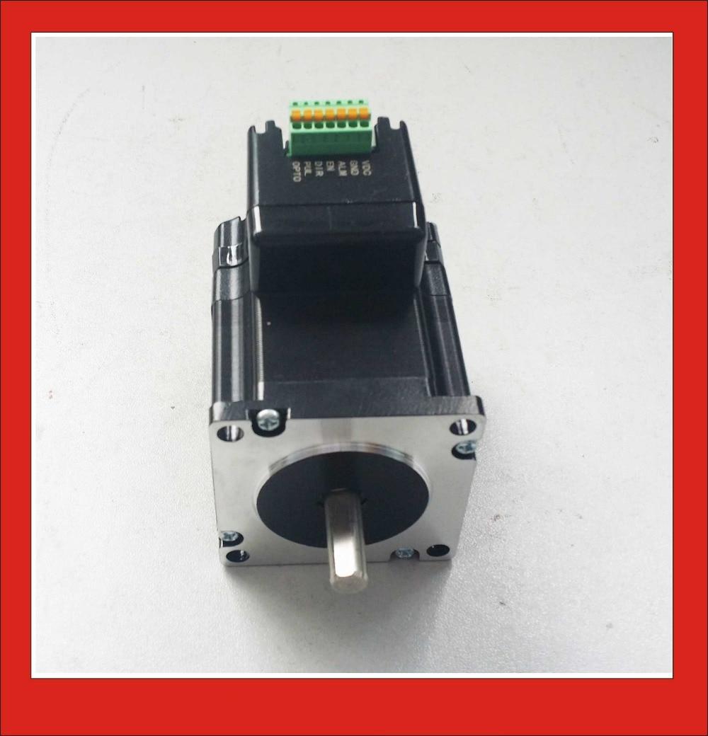 цена на 2 Phase Integrated Driver Motor NEMA23 Stepper 24VDC 2.5A 1.1N.m Holding Torque PUL+DIR Control