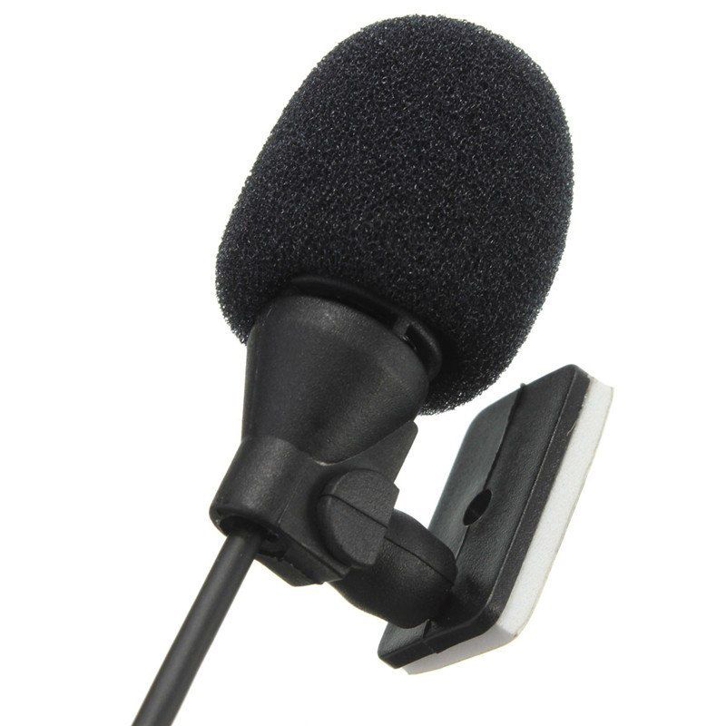 Car Microphone Enabled External Mic Plastic+metal Black Professional 3.5mm 1Pcs Universal Radio Stereo