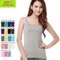 Summer Women O-Neck Elastic Modal Slim Camisoles T-Shirts Female Tank Tops Basic Tees
