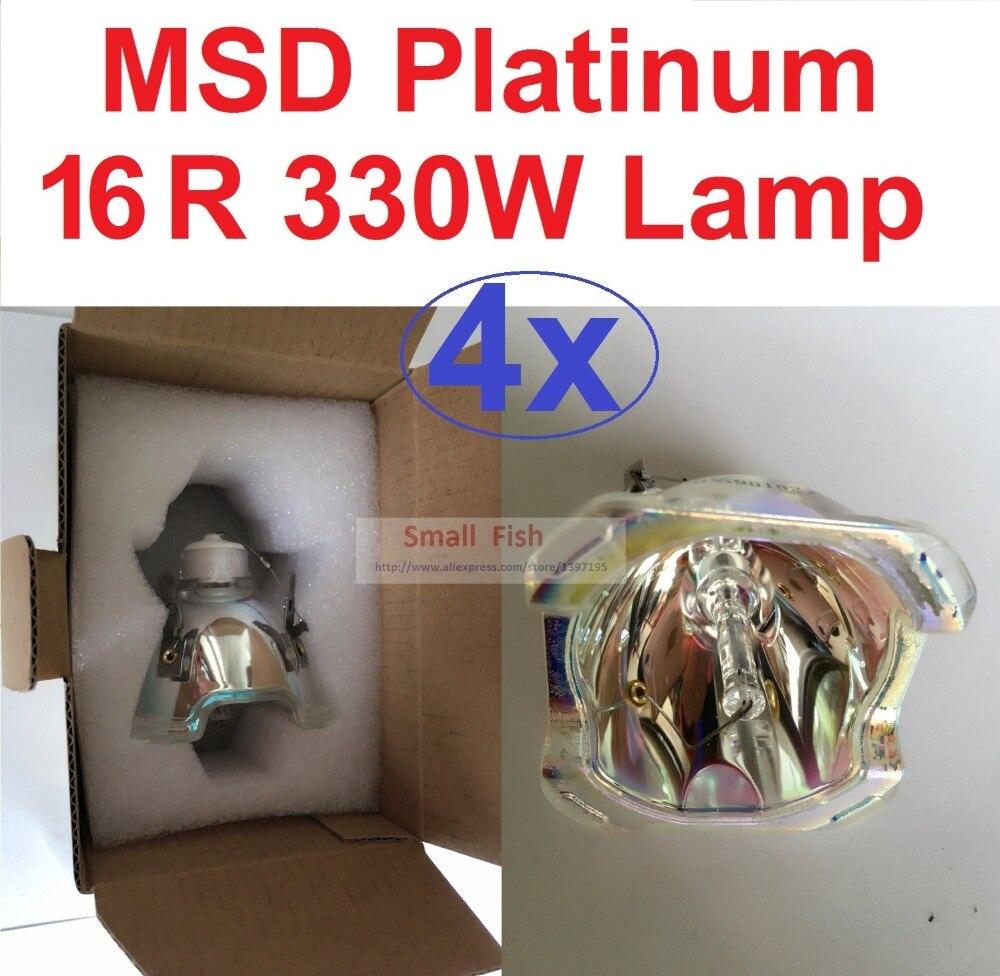Сценическая вращающаяся головсветильник лампа MSR 330 Вт Sirius HRI16R MSD300W Platinum 15R, лидер продаж, 4 шт.