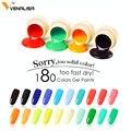 2019 Venalisa nail art tips design professional nail cosmetic manicure 180 colors uv led soak off paint nail polish lacquer gels