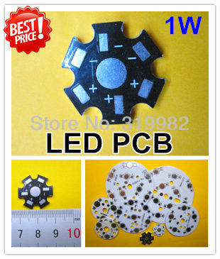200pcs 1W 3W High Power LED Aluminum Base Plate, LED PCB, Circuit board wholesale and free shipping