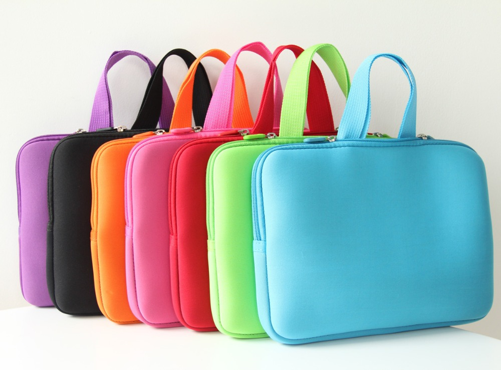"Pure Color 17"" 17.4""sleeve Laptop bag Notebook Case Computer PC Cover Handle Pouch for Macbook Pro for Sumsung Dell Sony ASUS HP"