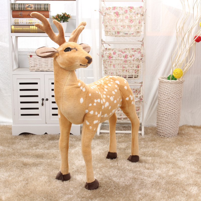big creative new plush sika deer toy simulation sika deer doll gift about 90x70cm new girls clothing sets autumn fashion patchwork girl sports suits hooded zipper jacket casual pants 2pcs children clothes set