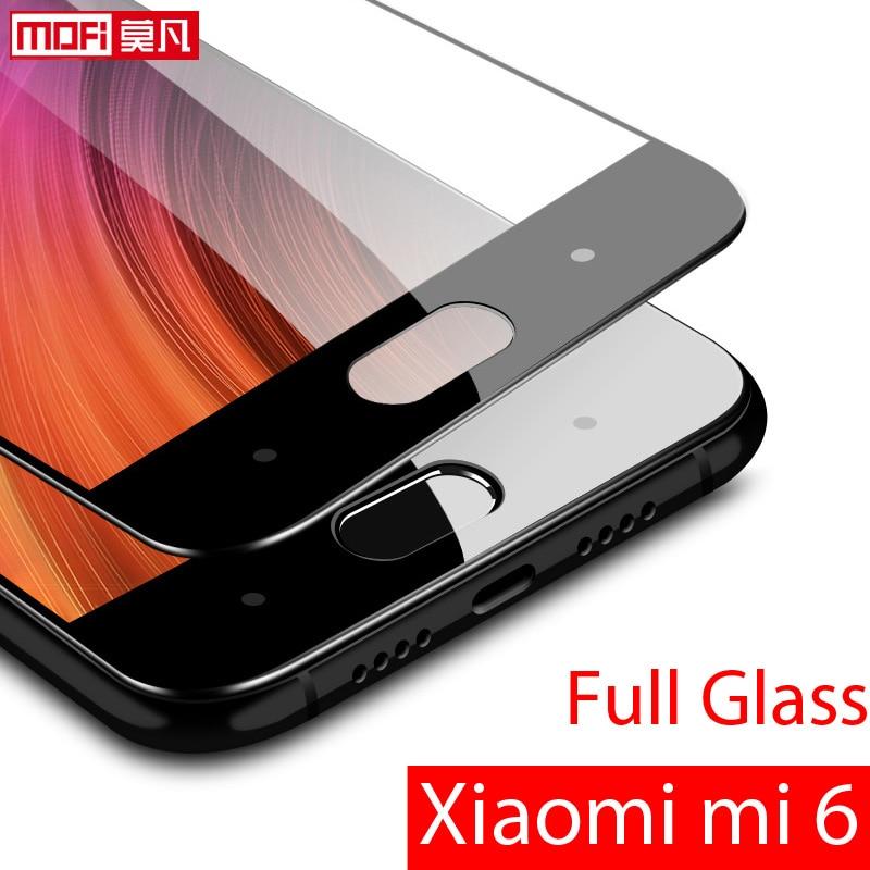 Xiaomi Mi6 Glass Tempered Screen Protector 2.5d 0.3mm Mofi Ultra Clear Thin 9H Full Cover Screen Protector Xiaomi Mi6 Glass-in Phone Screen Protectors from Cellphones & Telecommunications