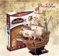 Cubic Fun 3D Jigsaw Puzzle Children Toy Santa Maria Yacht Ship Model T4008h