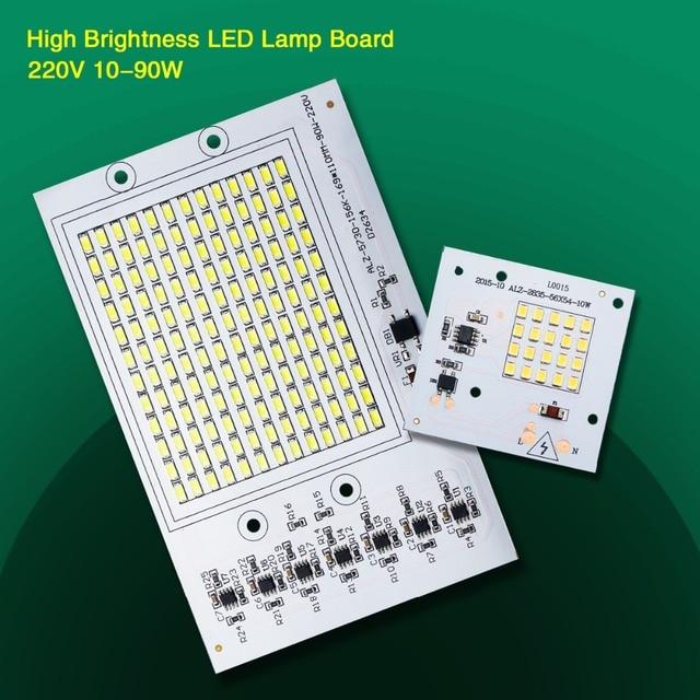 LED Lamp Cob Chip Beans AC 220V 230V SMD Bulb 10W 20W 30W 50W 90W With Smart IC Drive Spotlight White / Warm For DIY Floodlight
