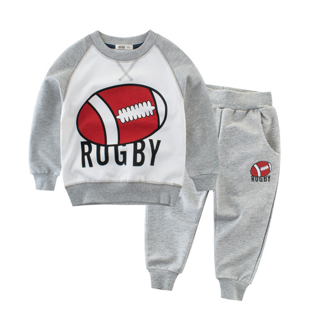 Outfits for girls baby fashion Tracksuit for boys children clothing kids clothes sports suit for boys and girls striped and letter printed t-shirt and pants Girls Clothing Sets
