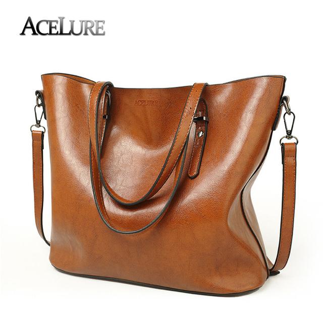 ACELURE Women Shoulder Bags 2017 Fashion Women Handbags Oil Wax Leather Large Capacity Tote Bag Casual Pu Leather Messenger bag