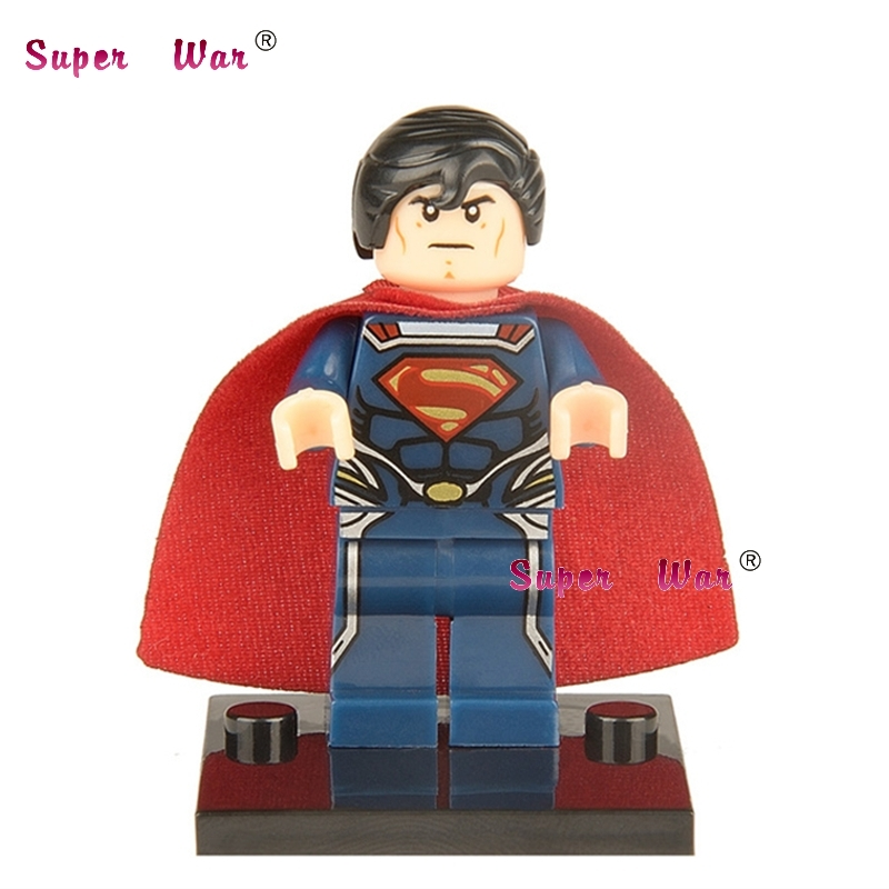 50pcs superhero Superman building blocks action bricks friends for girl boy house games kids children toys