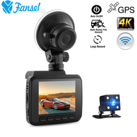 Car DVR GPS Navigator Rearview Camera WiFi Novatek 96660 Video Recorder Dual Lens Dash Camera 4K 2160P Night Vision Dashcam