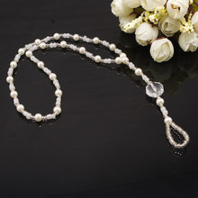 Trendy Simulated Pearl Round Zircon Anklets Bracelets Vintage White Color Toe Chain For Female Gift Party Jewelry