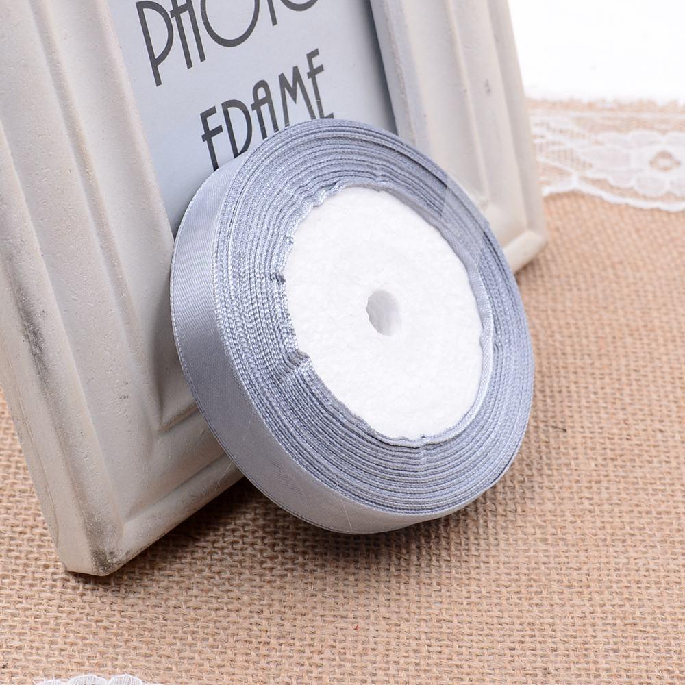 Ткань 10 мм 25 ярдов Белый Шелковый Атласный органза полиэстер лента для шитья Свадебная вечеринка украшение тесьма для рукоделия Подарочный упаковочный пояс - Цвет: 31