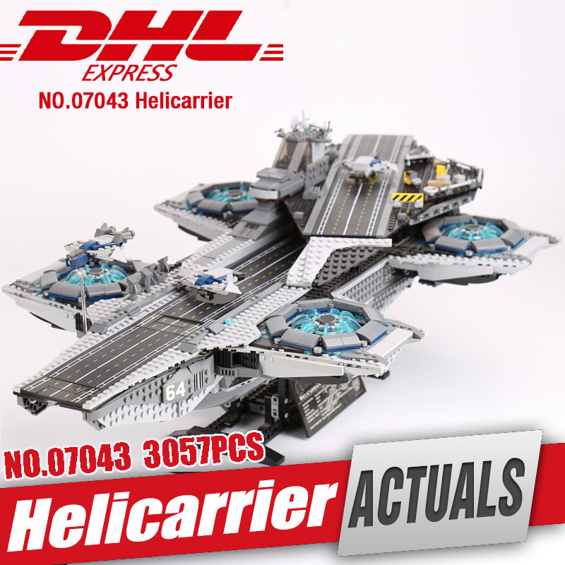 DHL Lepin 07043 Super Heroes The Shield Helicarrier Model Educational Building Kits Blocks Bricks Toys Compatible legoing 76042 in stock dhl lepin 07043 super heroes the shield helicarrier model building kits blocks bricks toys compatible 76042