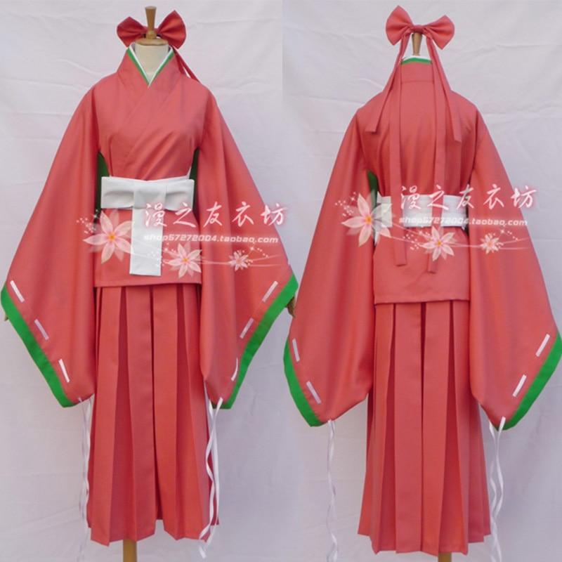 Anime Future Diary Mirai Nikki Kasugano Tsubaki Kimono Cosplay - Disfraces