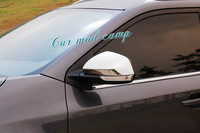 ABS Glossy Rearview Mirror Cover Side Mirror Cover Decoration Trim 2pcs For MG GS 2015 2016 2017 Car Styling accessories!