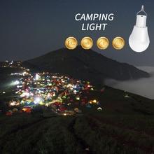 15W 250LM LED Solar Light Outdoor Garden Spotlight Portable Led Bulb USB Rechargeable Lamp Energy Saving Lighting