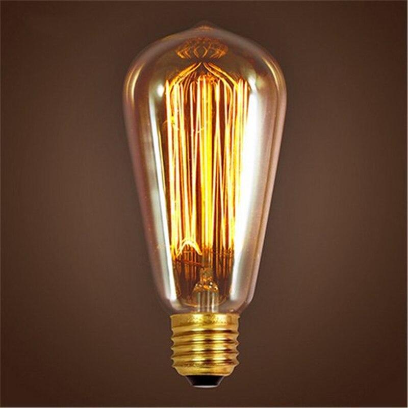 Retro lamp ST64 Vintage Edison bulb E27 Incandescent bulb 110V 220V Holiday lights 40W 60W Filament lamp Lampada for home