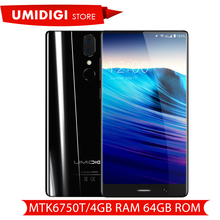 "UMIDIGI Crystal Bezel-less Display Android Smartphone MTK6750T Octa-core 4GB RAM 64GB ROM 5.5"" Brand Mobile Phone Presale"