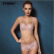 TAINY 2017 Sexy Lace Transparent Women's Underwear Lingerie Bra Brief Sets