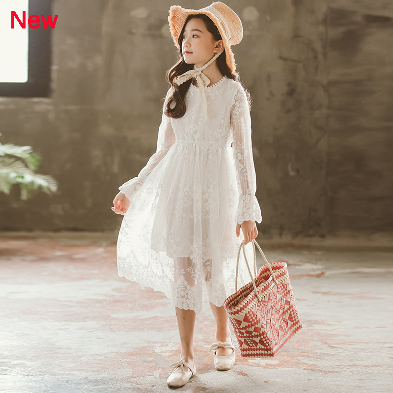 Image 5 - Girls Lace Dress Long Sleeve Fall Winter Little Girl Dress 4 5 6 7 8 9 10 11 12 years Kids Princess Dress Teenage Girls Clothing-in Dresses from Mother & Kids