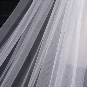 Image 5 - Voile Mariage 4M One Layer Lace Edge White Ivory Cathedral Wedding Veil Long Bridal Veil Cheap Wedding Accessories Veu de Noiva