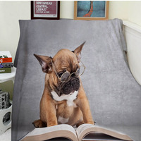 Blankets Comfort Warmth Soft Cozy Air Conditioning Easy Care Machine Wash Funny Cute Dog Reading Wear