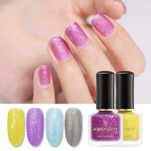 BORN PRETTY 6ml Nail Polish Matte Micas Serises Green Purple Silver Colorful Design Irregular Sequins Art Lacuquer