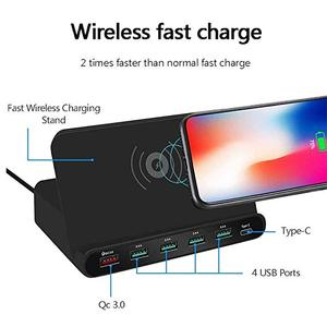 Image 2 - Uniwersalna bezprzewodowa ładowarka Qi 60W dla iphonea Ipad Samsung Tablet z androidem 7 W 1 szybki 3.0 szybki uchwyt do ładowania
