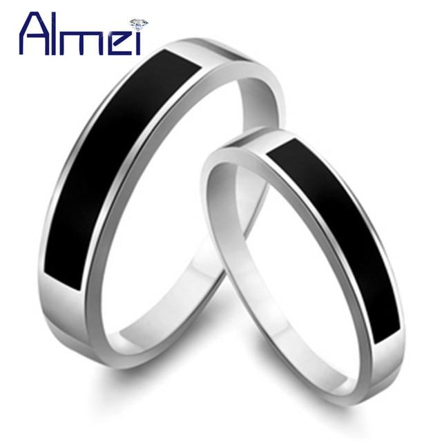 6410c6413d46 Almei anillo hombre con piedra compromiso mujer joyeria anillos plata  alianzas de boda para parejas sortijas ...
