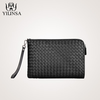 The New Woven Handbag Male Leather Envelope Bag Leather Clutch Made Of Sheepskin Bulk Business Men