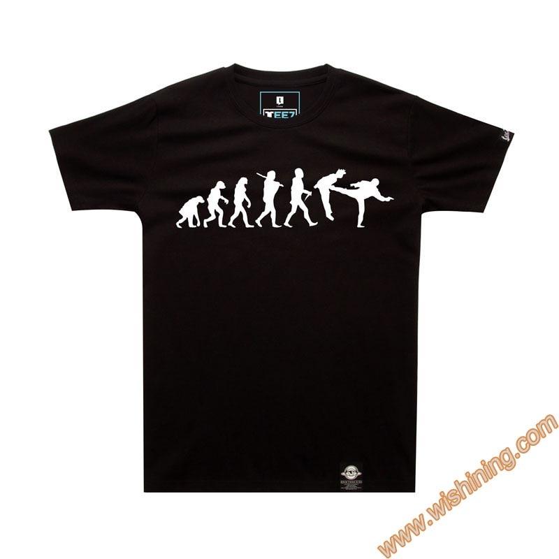 Unique The Big Bang Theory Evolution Wars T-shirts TBBT Black Tee Shirts 4XL Plus Size Tshirt For Mens Boys