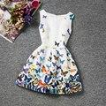 2017 Garota Verão Vestido Floral Impressão vestido de Desgaste Do Partido Dos Miúdos Vestidos Para Meninas princesa Roupas de Menina Para 6 7 8 10 Vestido de Aniversário 12 Anos