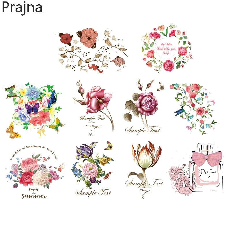 Prajna Custom Flower Iron On Transfers For Clothes Hot