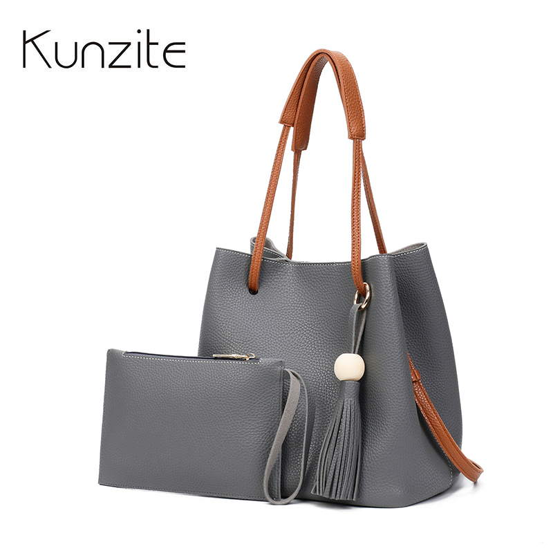 2017 Brand Bucket Shoulder Bag Ladies Luxury Tassel Crossbody Bags For Women PU Leather Handbags Women Bag Fashion Hand Bag Sac