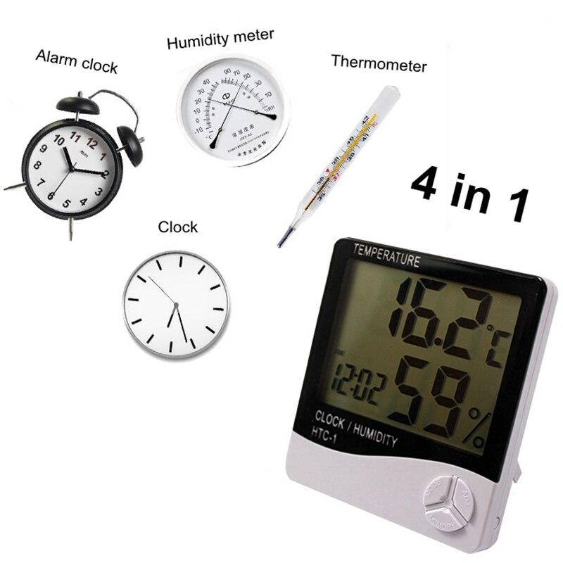 Innen Digitale Temperatur Feuchtigkeit Lcd Wetter Station Uhr Elektronische Meter Thermometer Hygrometer Wetter Station Alarmclock Wohnkultur