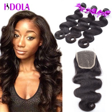 Stema Hair Brazilian Body Wave With Closure 3pcs 7a Mink Unprocessed Virgin Brazilian Hair With Closure Part Closure With Bundle