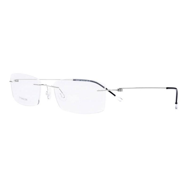 Titanium Rimless Rectangular Shape Eyeglasses Optical Frame For Men And Women Eyewear