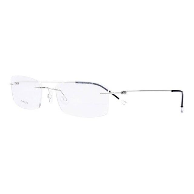 Titanyum Çerçevesiz Dikdörtgen Şekli Gözlük Optik Çerçeve Erkekler ve Kadınlar için Gözlük