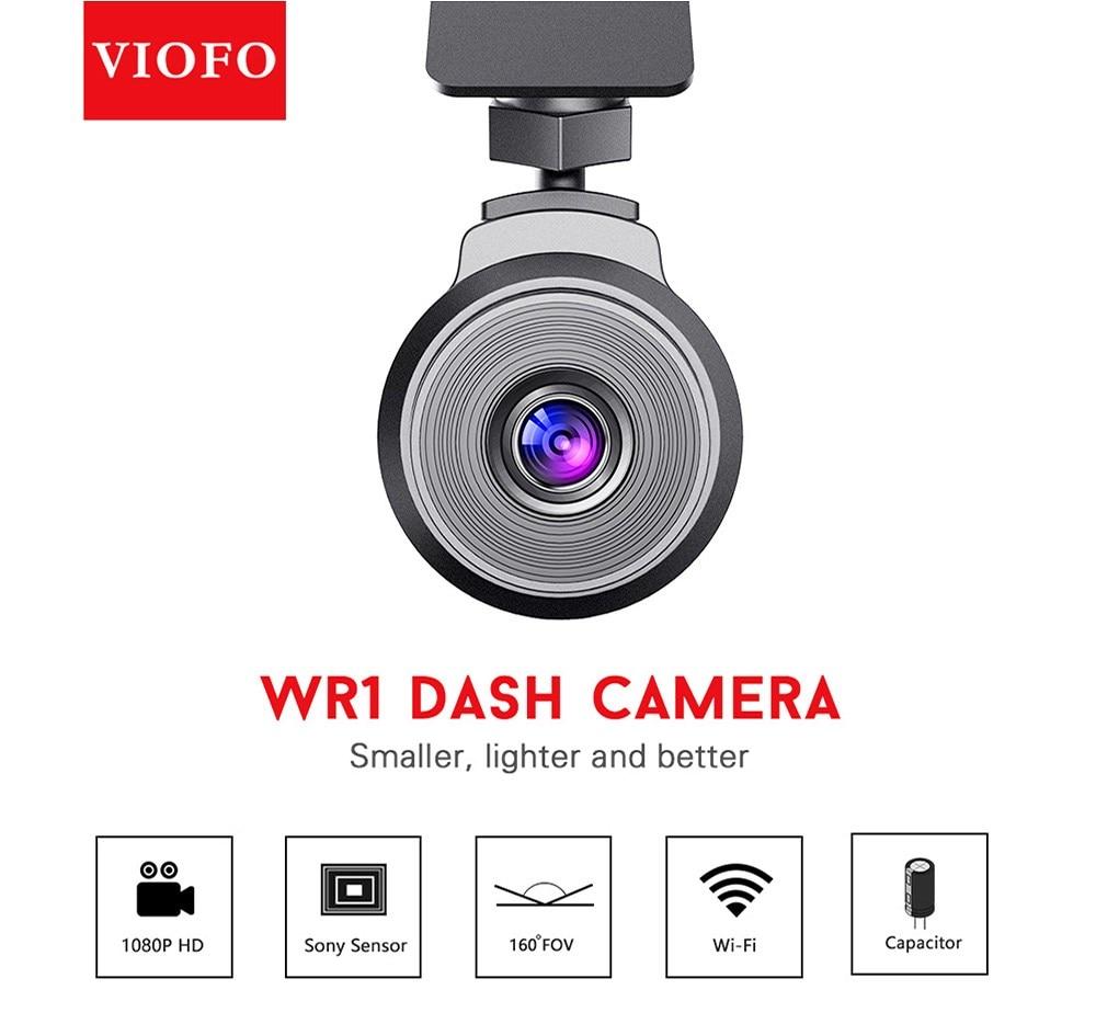 Original VIOFO Car DVRs WR1 Capacitor Full HD 1080P Wifi Car Dash Camera DVR Recorder 160 Degree Angle Novatek Chip