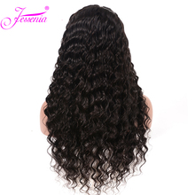 Brazilian Deep Wave  13*4  Lace Front Wigs Pre Plucked With Baby Hair 150% Density Human Hair Wigs For Black Women цена