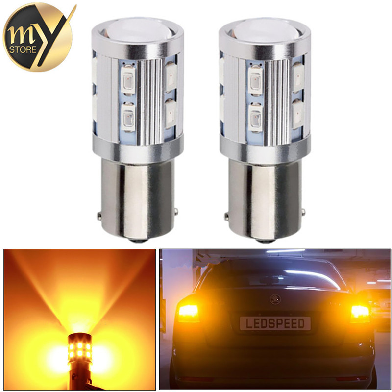 20pcs 1156 BA15S 12 SMD Samsung 5730 led High Power lamp p21w R5W Car LED bulbs rear brake Lights Source parking 12V Yellow