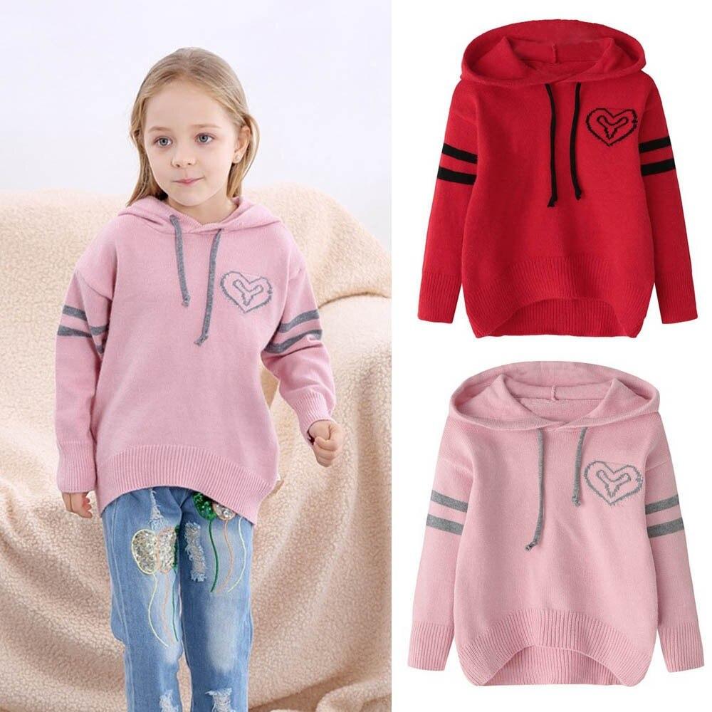 2018 Herbst Winter Pullover Kinder Baby Mädchen Jungen Gestrickte Pullover Geometr Nähen Warme Tops Outfit Kleidung Kinder Kleidung Knitterfestigkeit