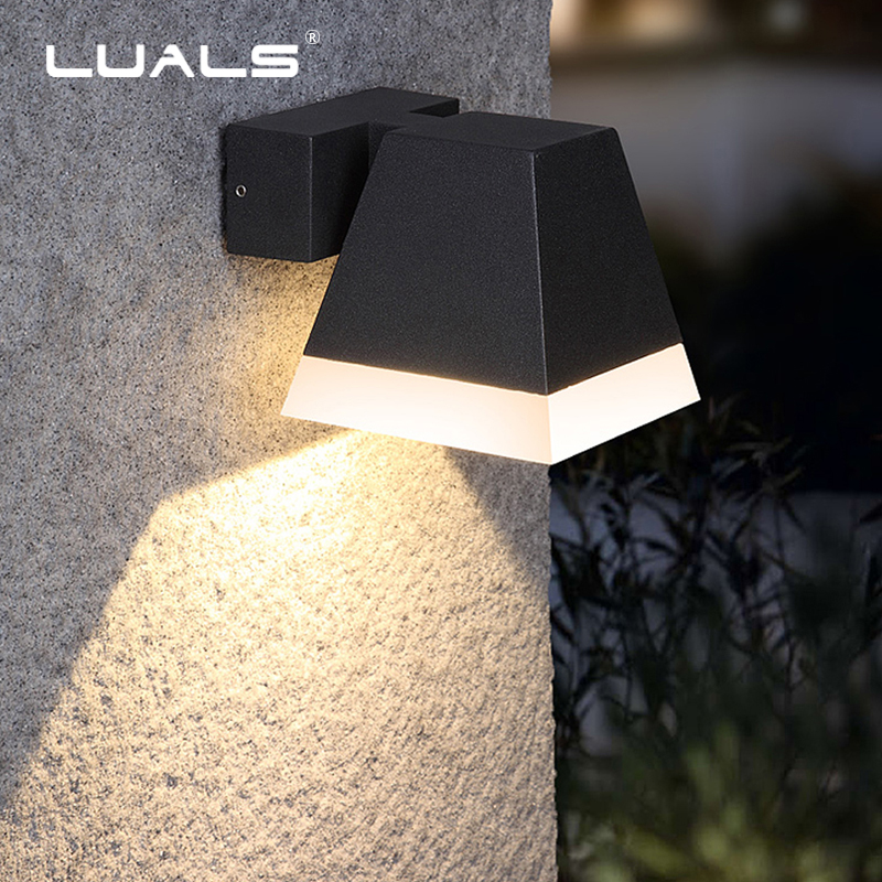 Modern Wall Lamp Outdoor Waterproof LED Wall Light Garden Wall Lamps Cast Aluminum Porch Lights Luxury Home Art Deco Lighting luxurious crystal wall lamp metal plating modern wall light hotel ideas wall lights indoor modern wall lamps art deco lighting