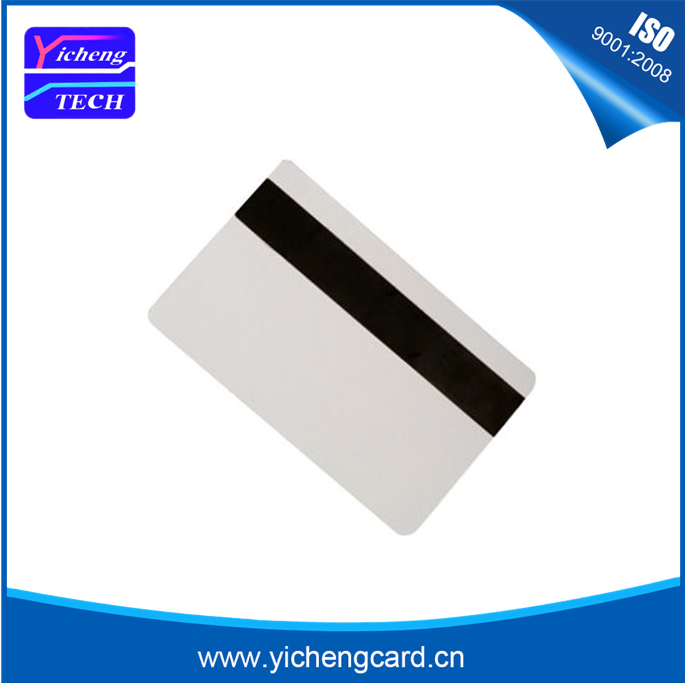 1000pcsBlank White PVC Hico 1-3 magnetic stripe card Plastic Credit Card 30Mil Magnetic Card with printable for card printer