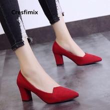 e917256f0d1484 Femmes mode bout pointu classique confortable sans lacet à Talons Hauts  pompes dame mignon noir chaussures rouge chaussures Femm.